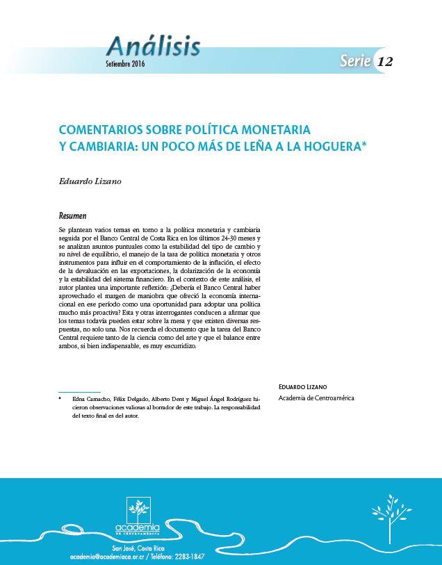Eduardo Lizano Análisis 12