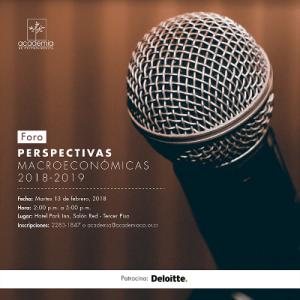 Foro: Perspectivas Macroeconómicas 2018-2019
