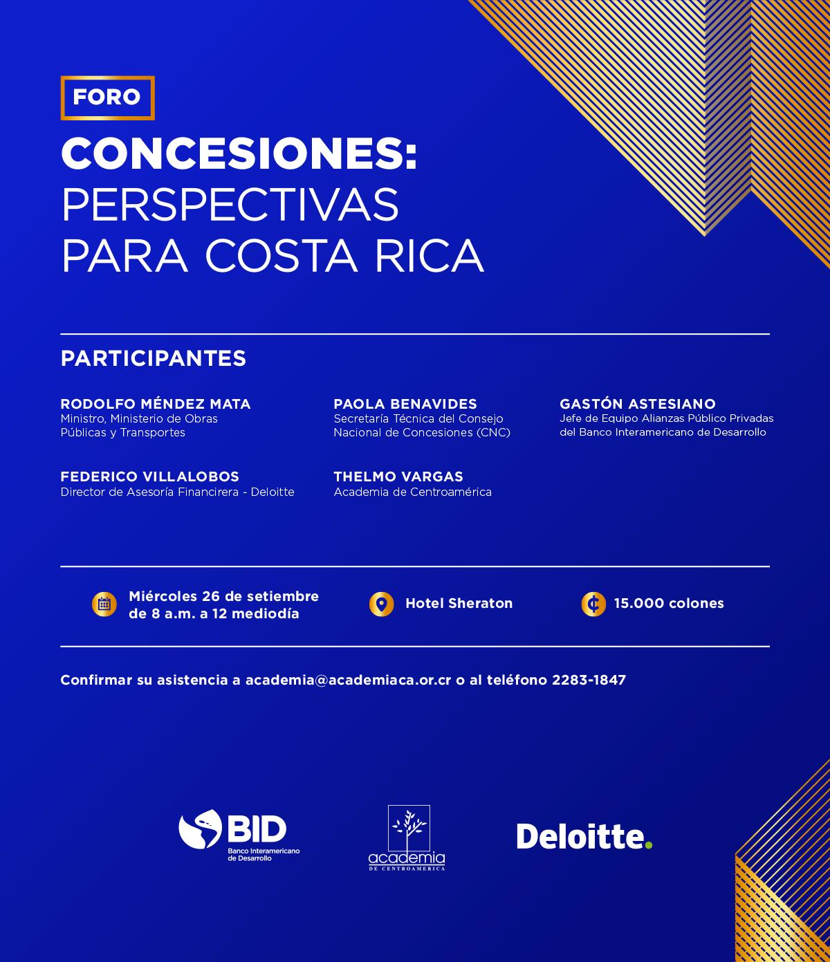Foro Concesiones: Perspectivas para Costa Rica